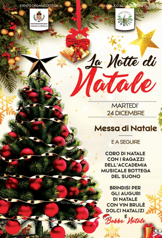 Coro Di Natale.La Notte Di Natale Con La Santa Messa E Il Coro Comune Di Formello Rm